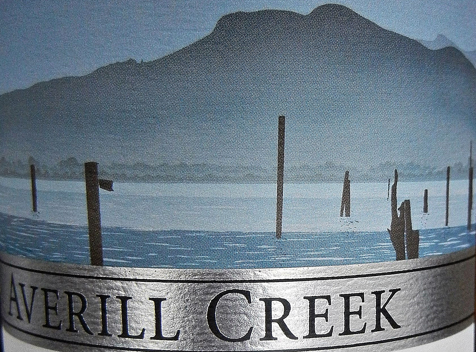 BC Pinot Noir Averill Creek label detail
