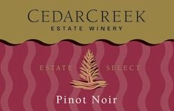 Cedar Creek Estate Select Pinot Noir 2006 Label - BC Pinot Noir Tasting Review 1