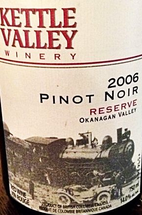 Kettle Valley Reserve Pinot Noir 2006 Label - BC Pinot Noir Tasting Review 1