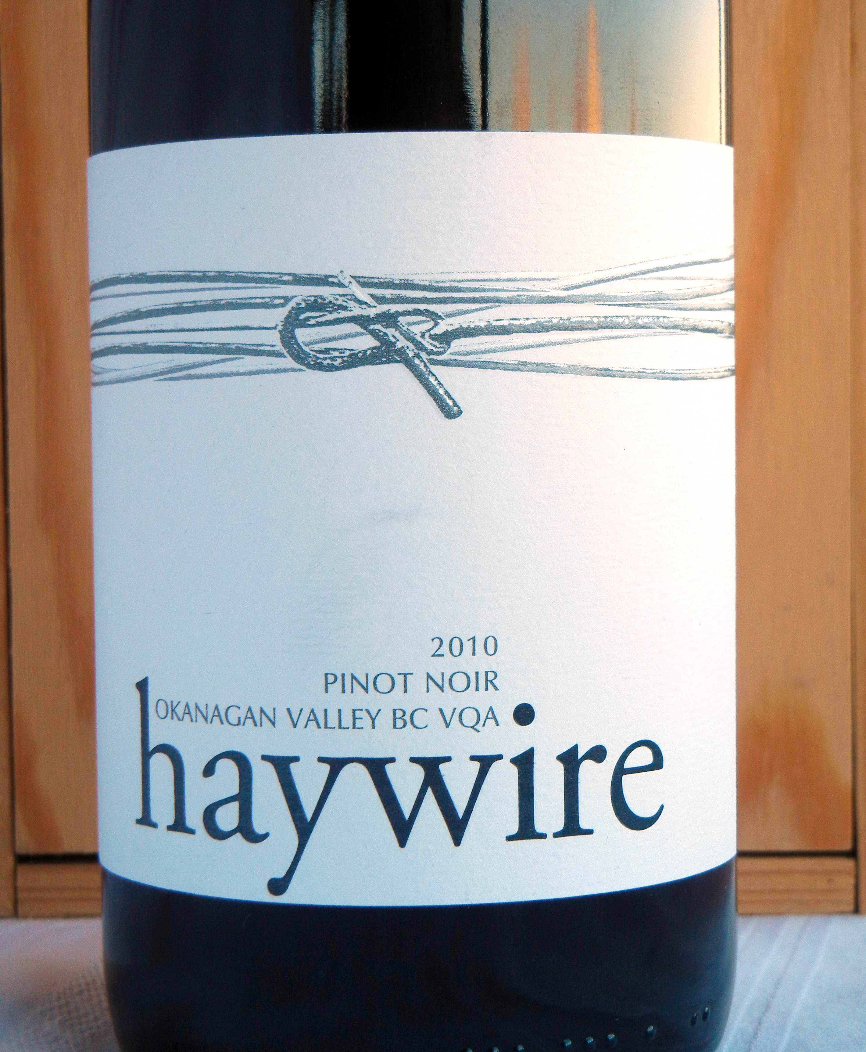Haywire Pinot Noir 2010 Label - BC Pinot Noir Tasting Review 10
