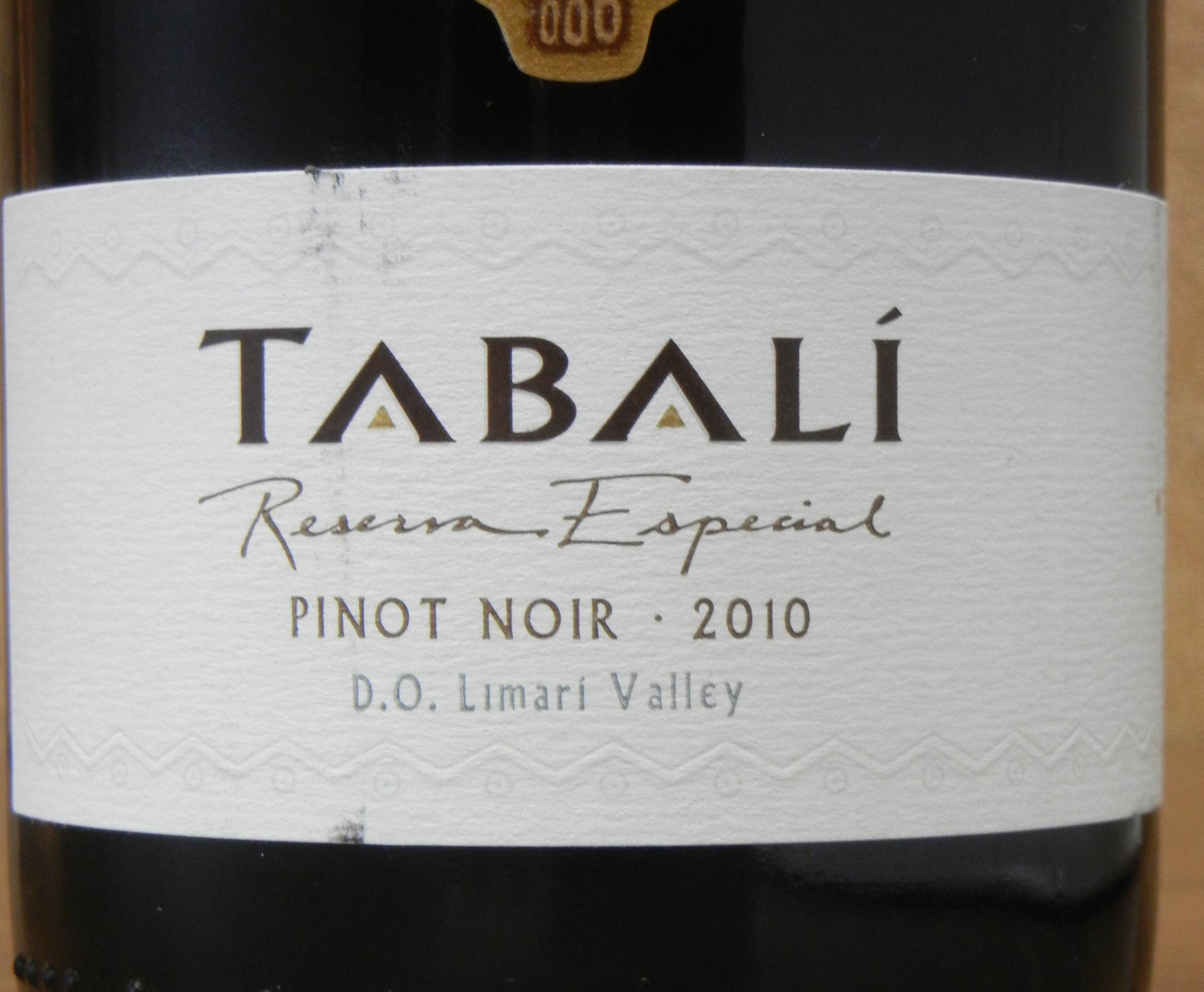 Tabali Pinot Noir 2010 Label - BC Pinot Noir Tasting Review 10
