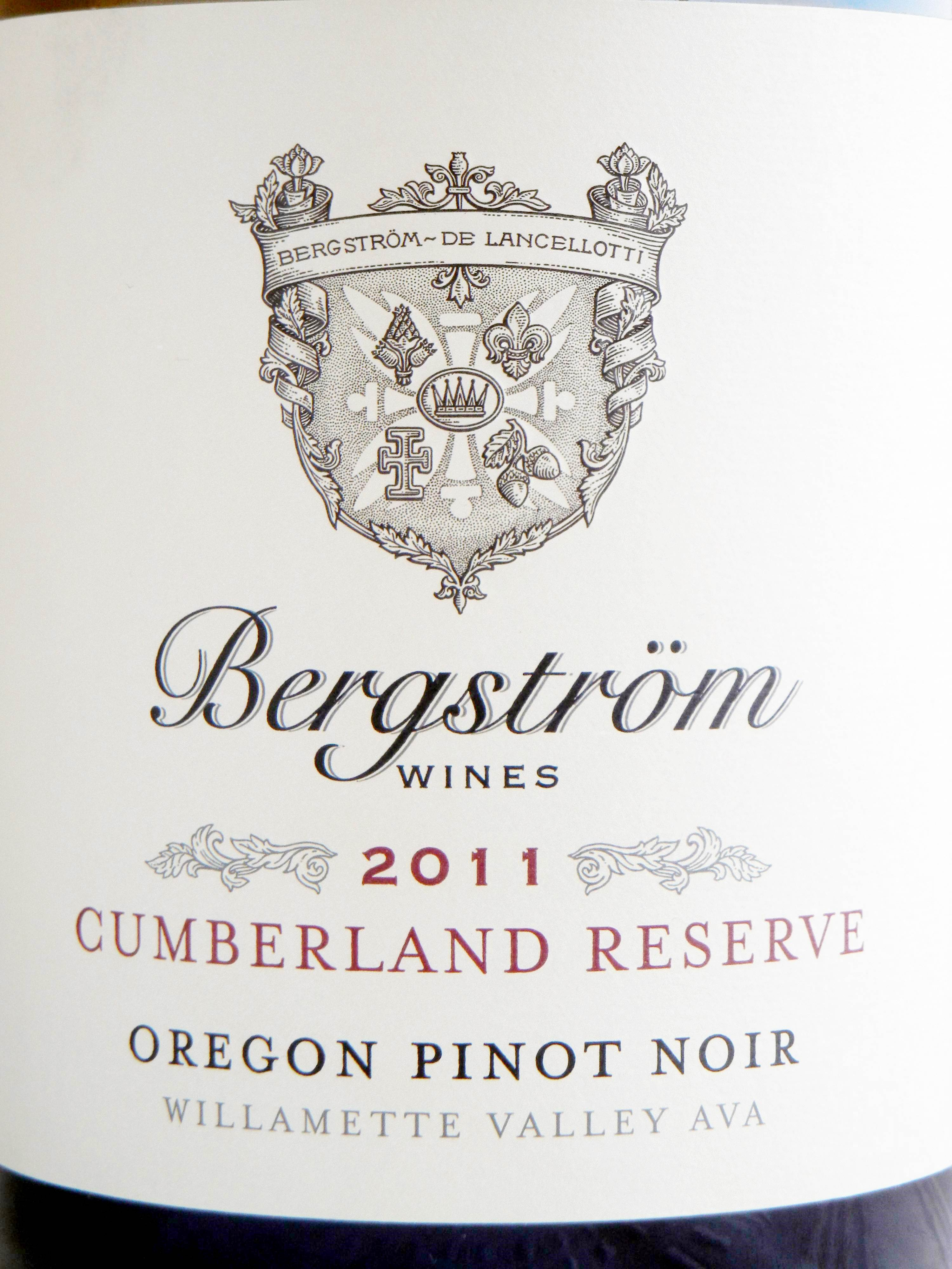 Bergstrom Cumberland Reserve Pinot Noir 2011 Label - BC Pinot Noir Tasting Review 11