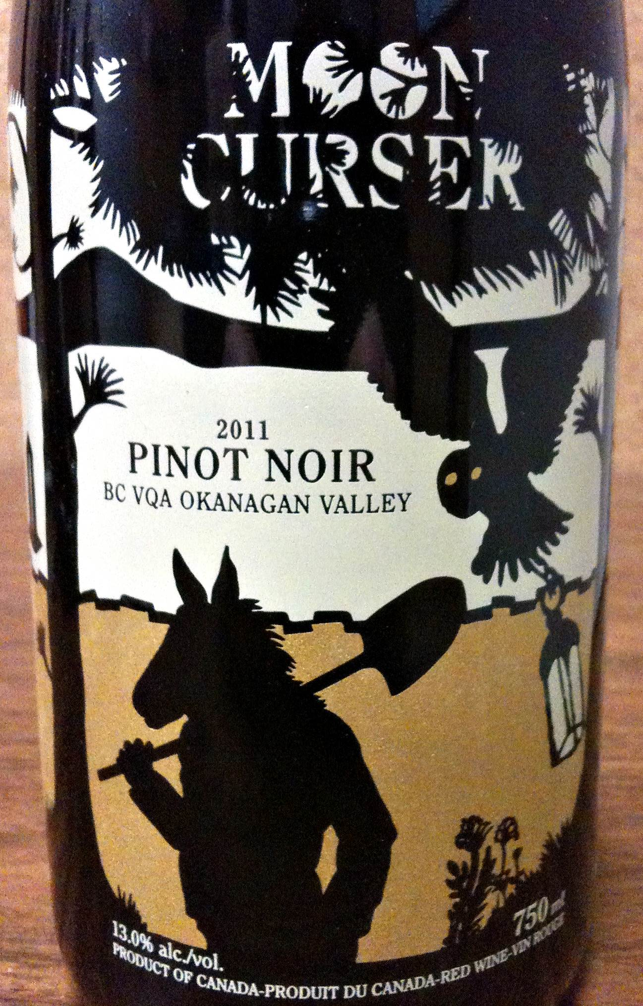 Moon Curser Pinot Noir 2011 Label - BC Pinot Noir Tasting Review 11