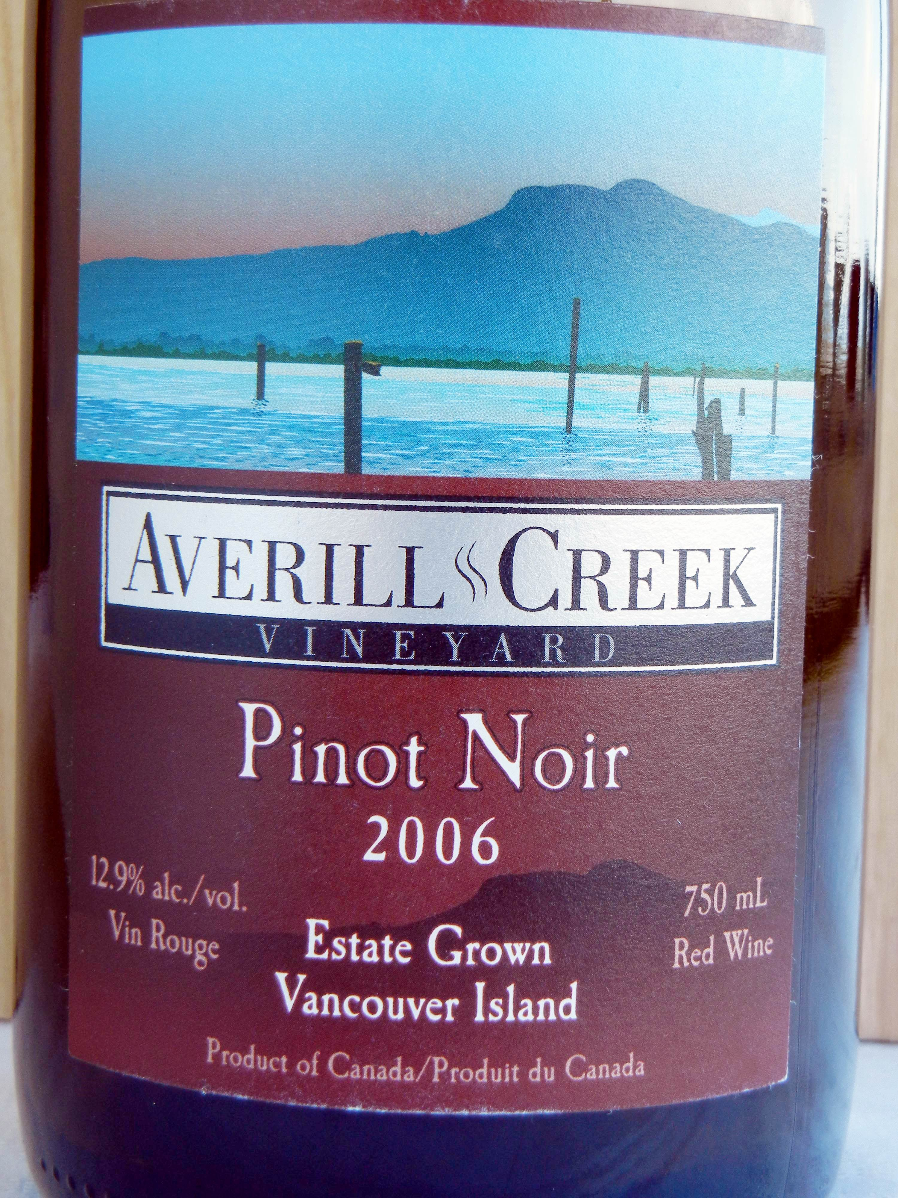 Averill Creek Pinot Noir 2006 Label - BC Pinot Noir Tasting Review 12