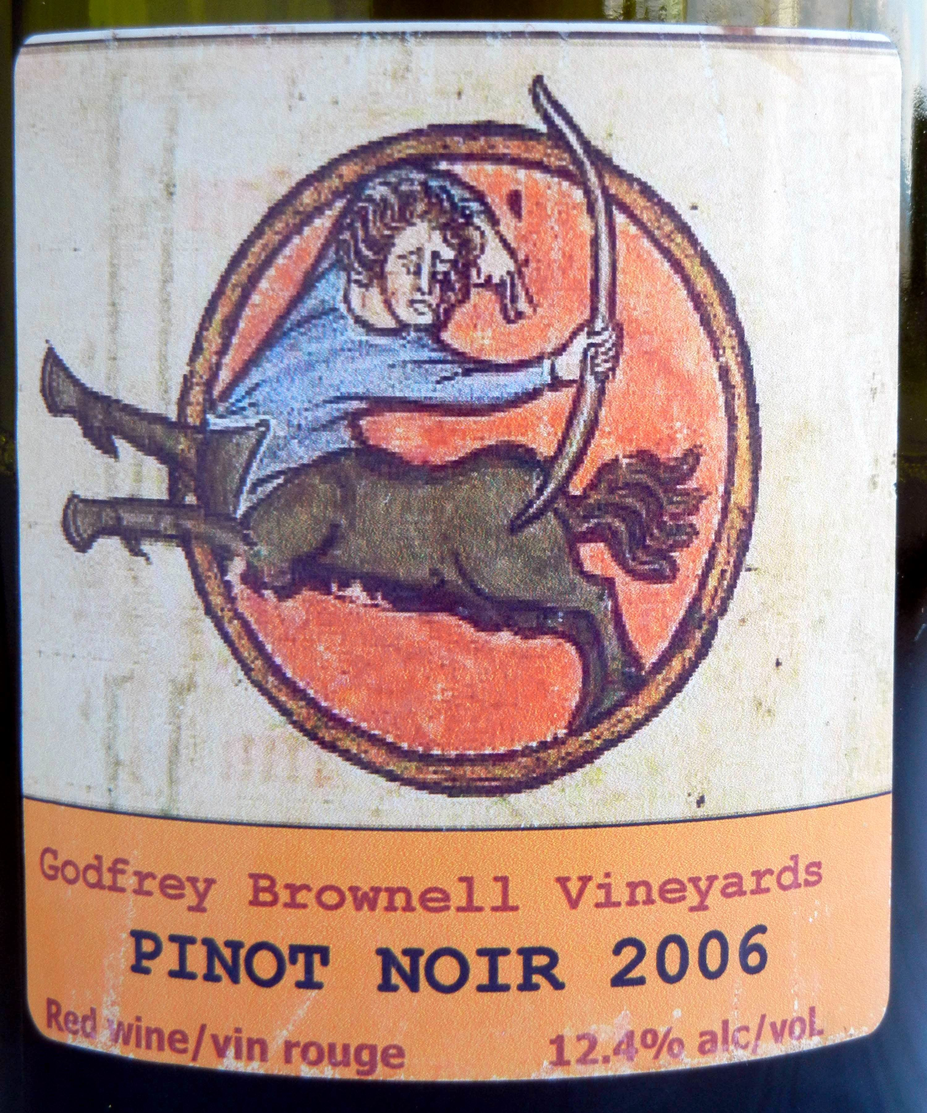 Godfrey Brownell Pinot Noir 2006 Label - BC Pinot Noir Tasting Review 12