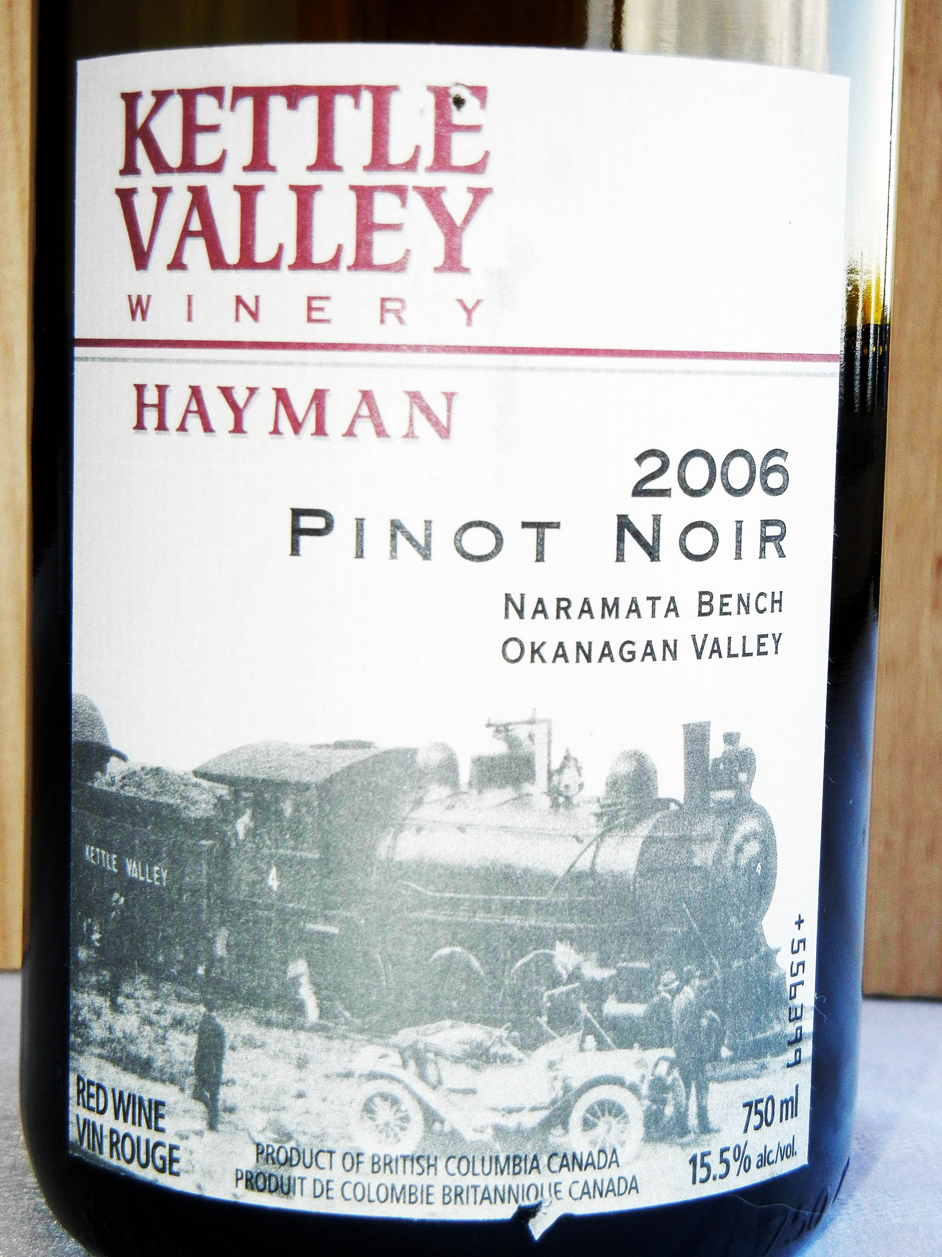 Kettle Valley Hayman Pinot Noir 2006 Label - BC Pinot Noir Tasting Review 12