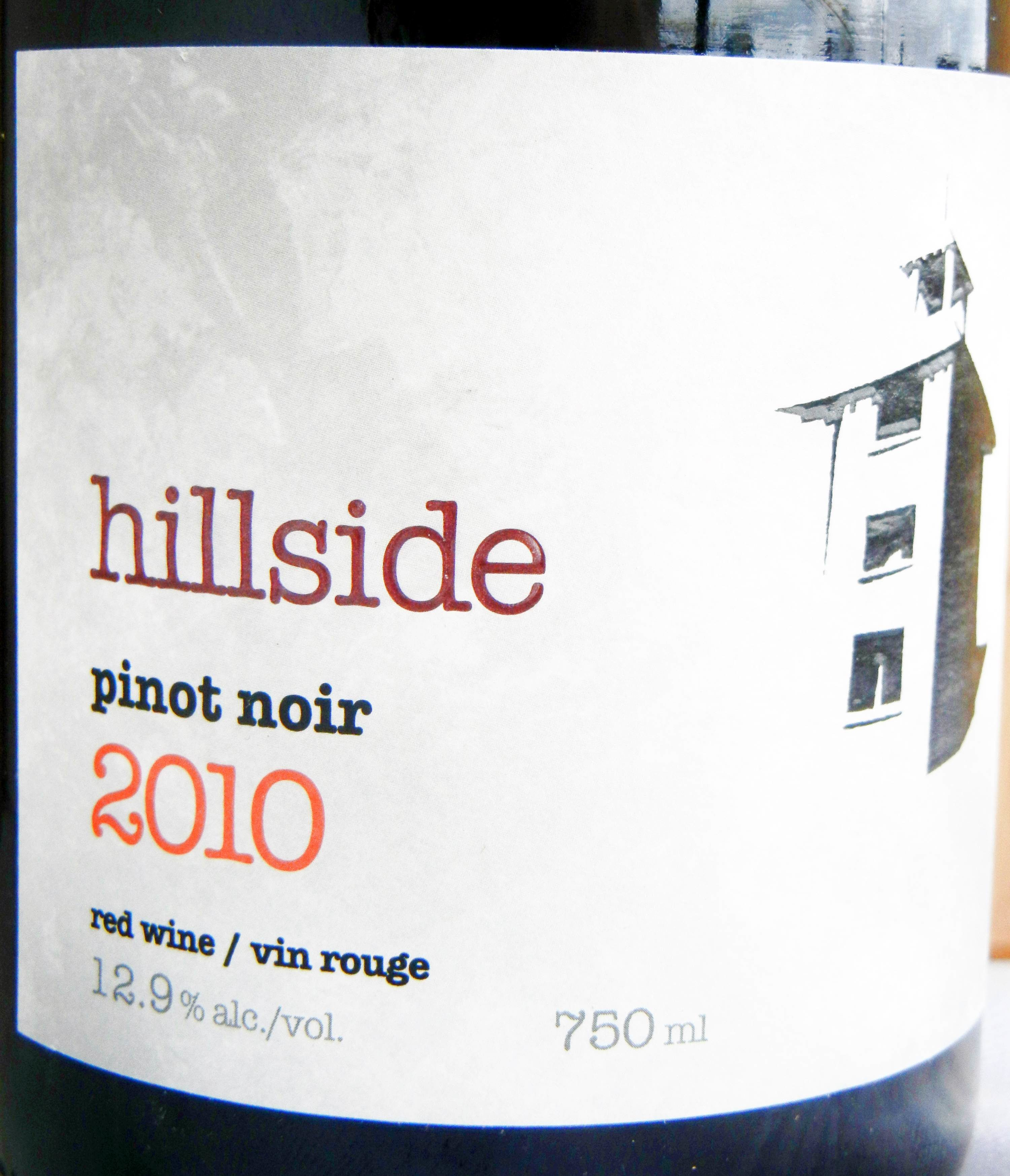 Hillside Pinot Noir 2010 Label - BC Pinot Noir Tasting Review 14