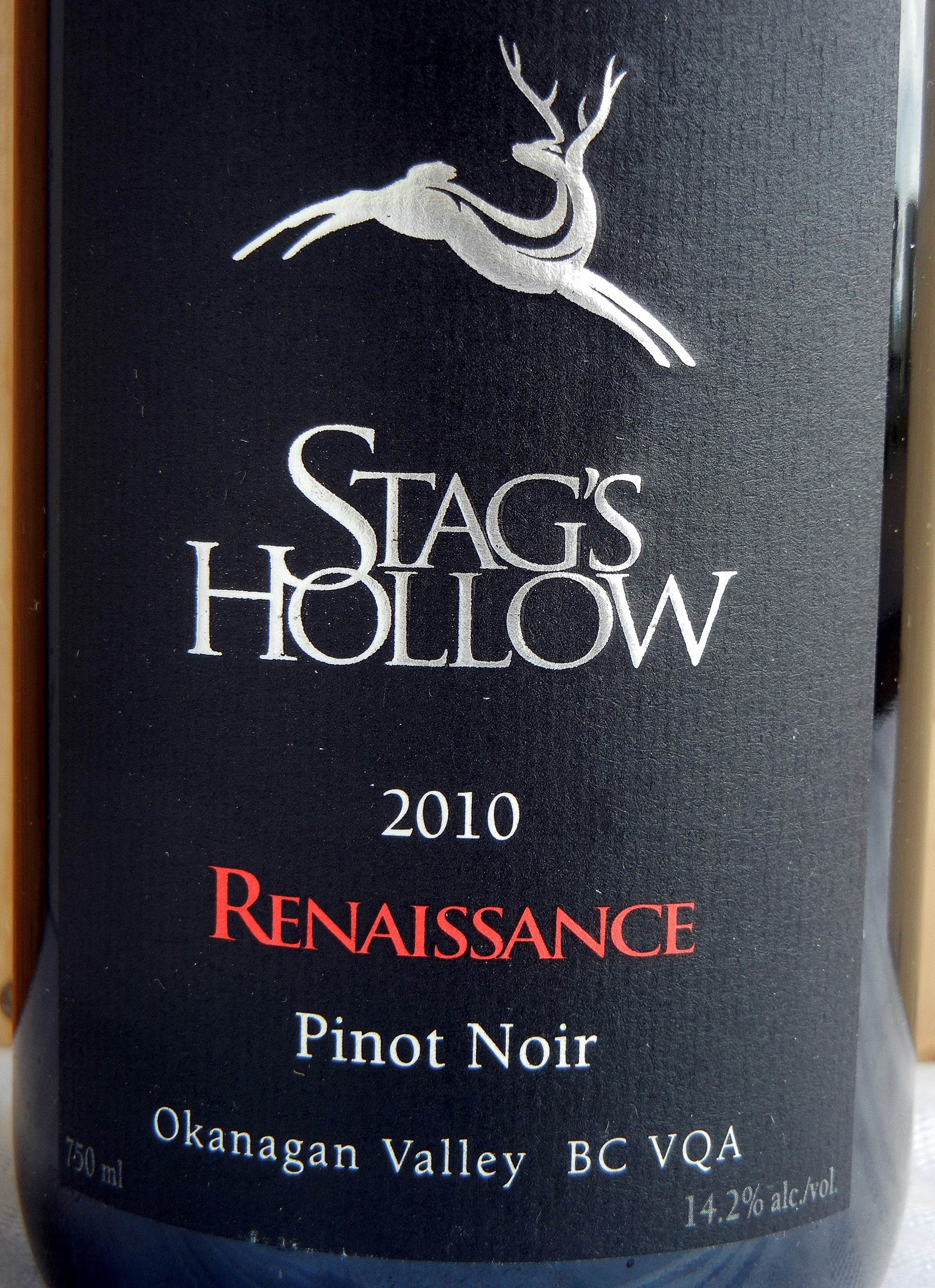 Stag's Hollow Renaissance Pinot Noir 2010 Label - BC Pinot Noir Tasting Review 14