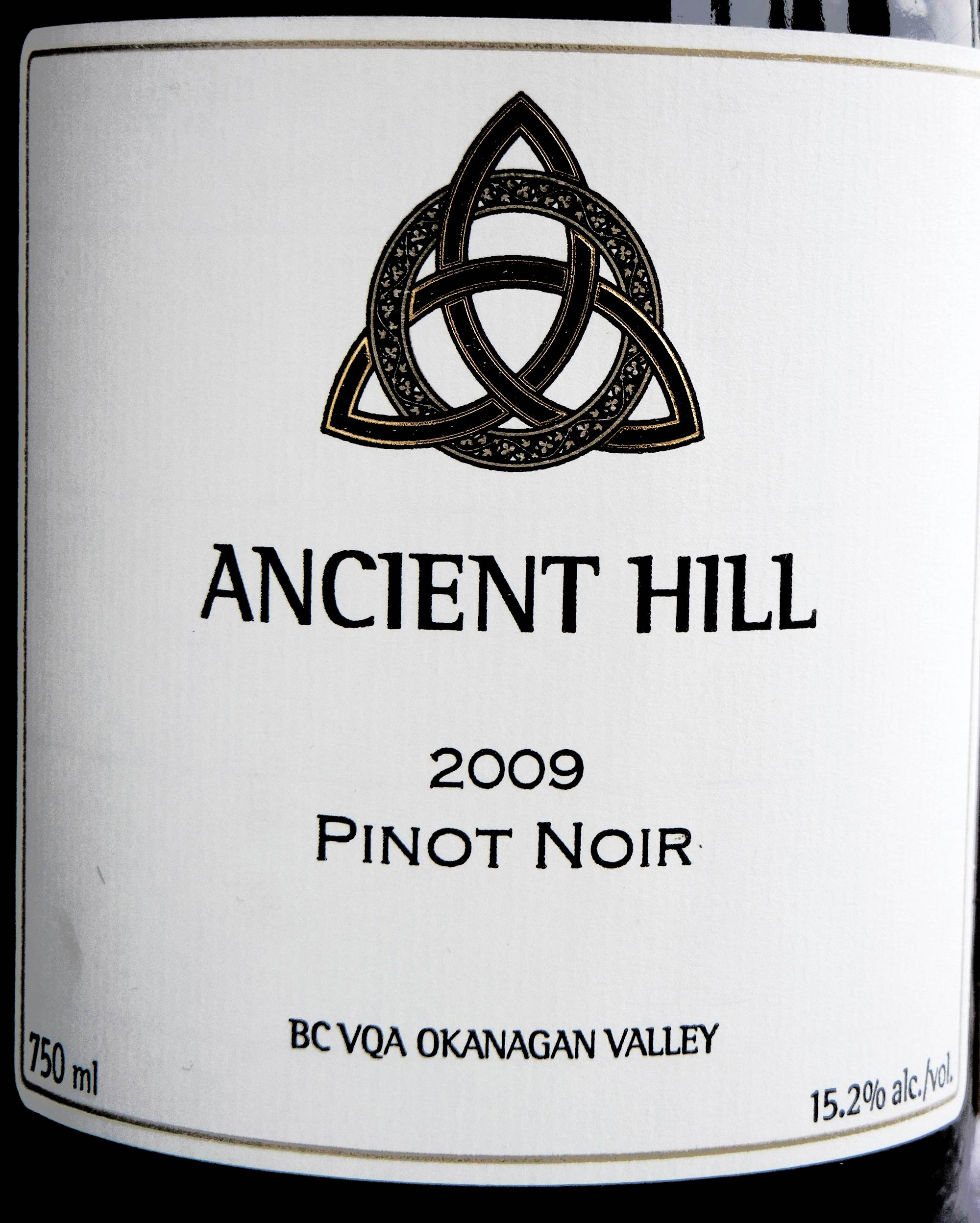 Ancient Hill Pinot Noir 2009 Label - BC Pinot Noir Tasting Review 15