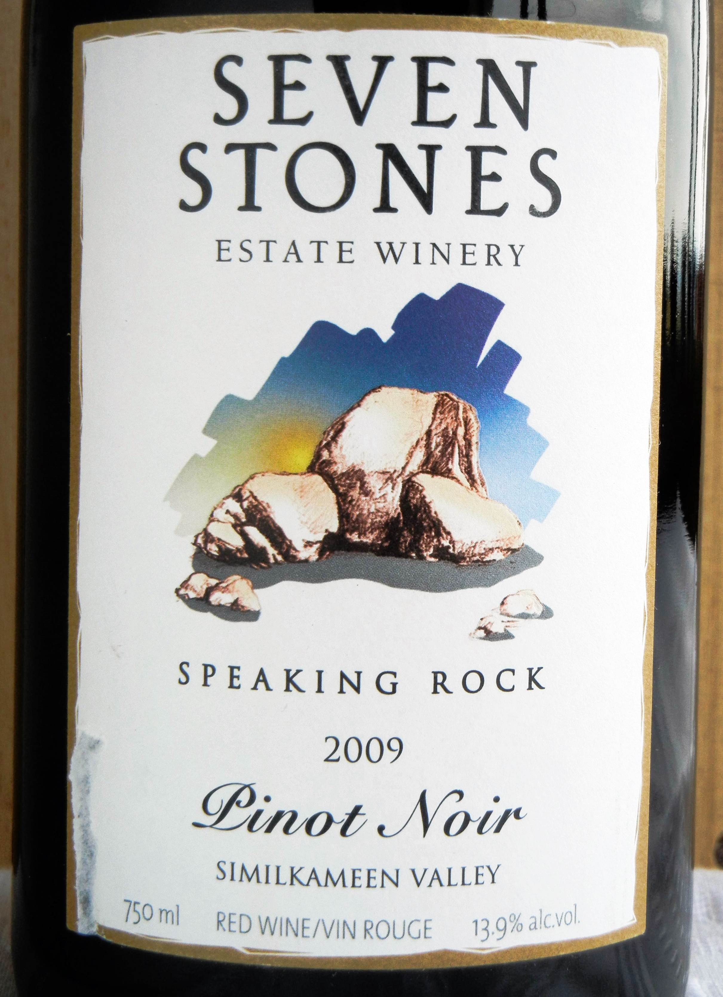 Seven Stones Pinot Noir 2009 Label - BC Pinot Noir Tasting Review 15