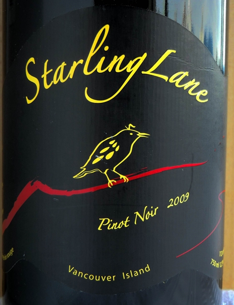 Starling Lane Pinot Noir 2009 Label - BC Pinot Noir Tasting Review 15