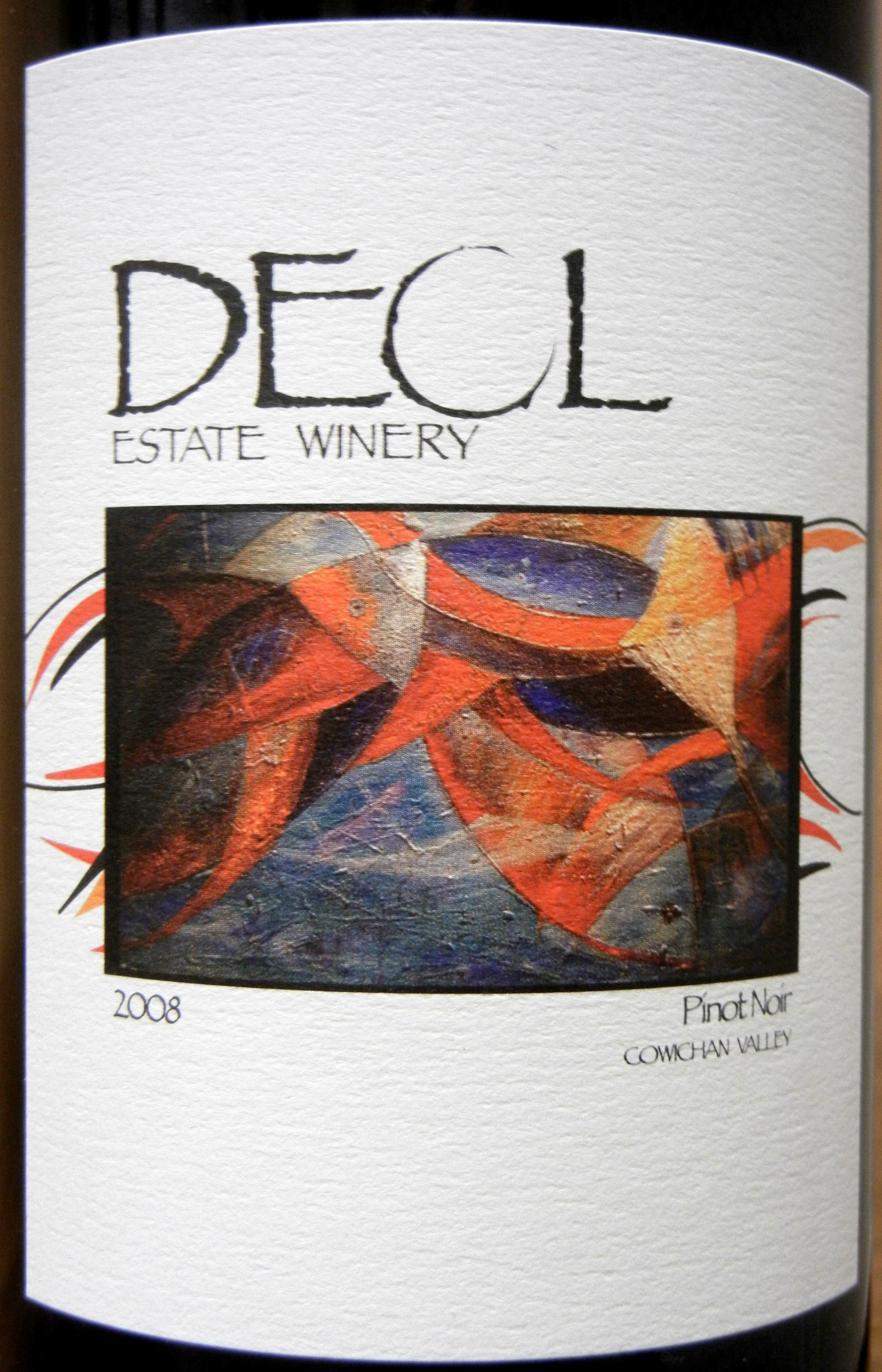 Deol Pinot Noir 2008 Label - BC Pinot Noir Tasting Review 16