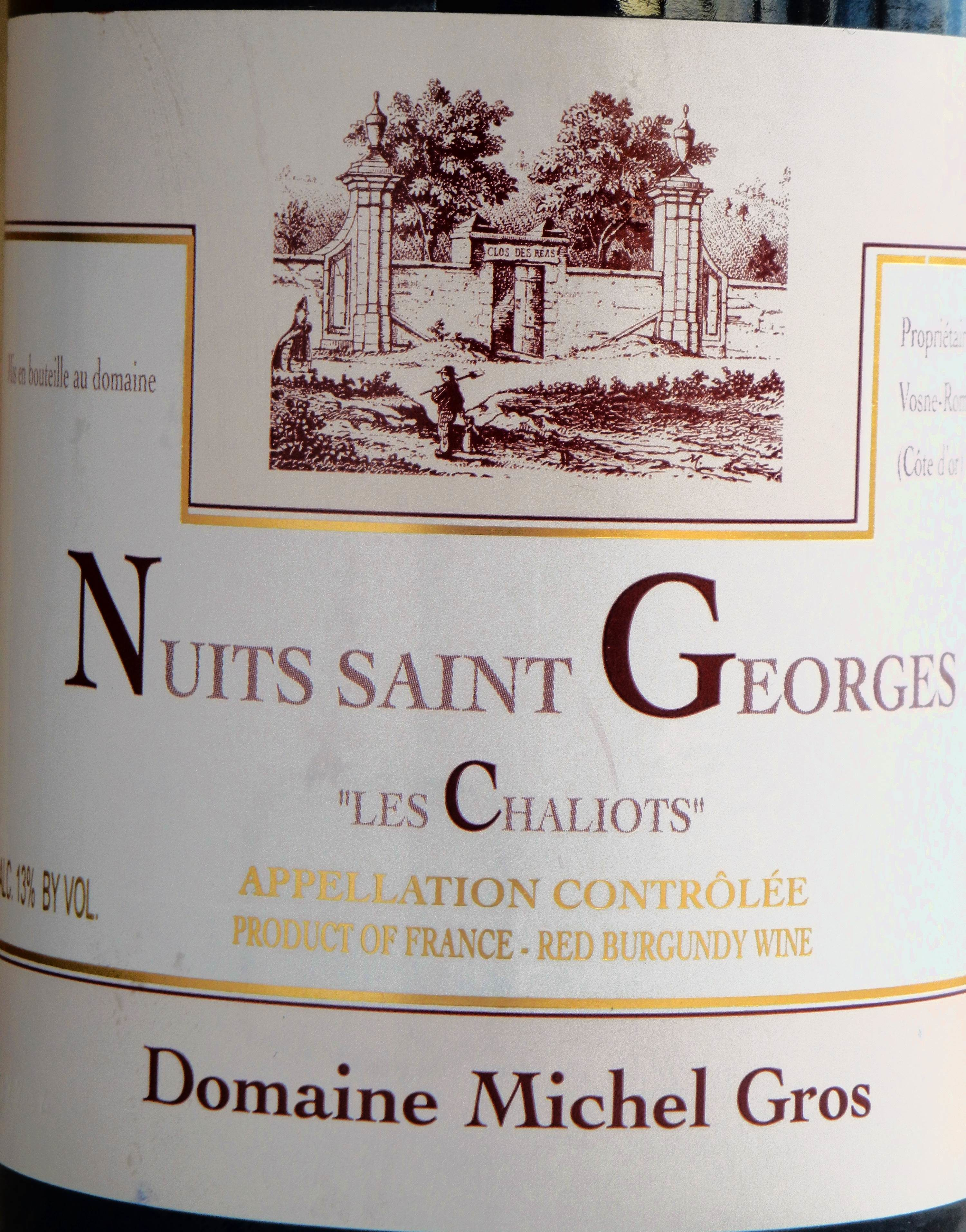 Nuits St. George Chaliots Michel Gros 2008 Label - BC Pinot Noir Tasting Review 16