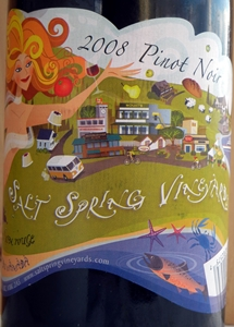 Salt Spring Vineyards Pinot Noir 2008 Label - BC Pinot Noir Tasting Review 16