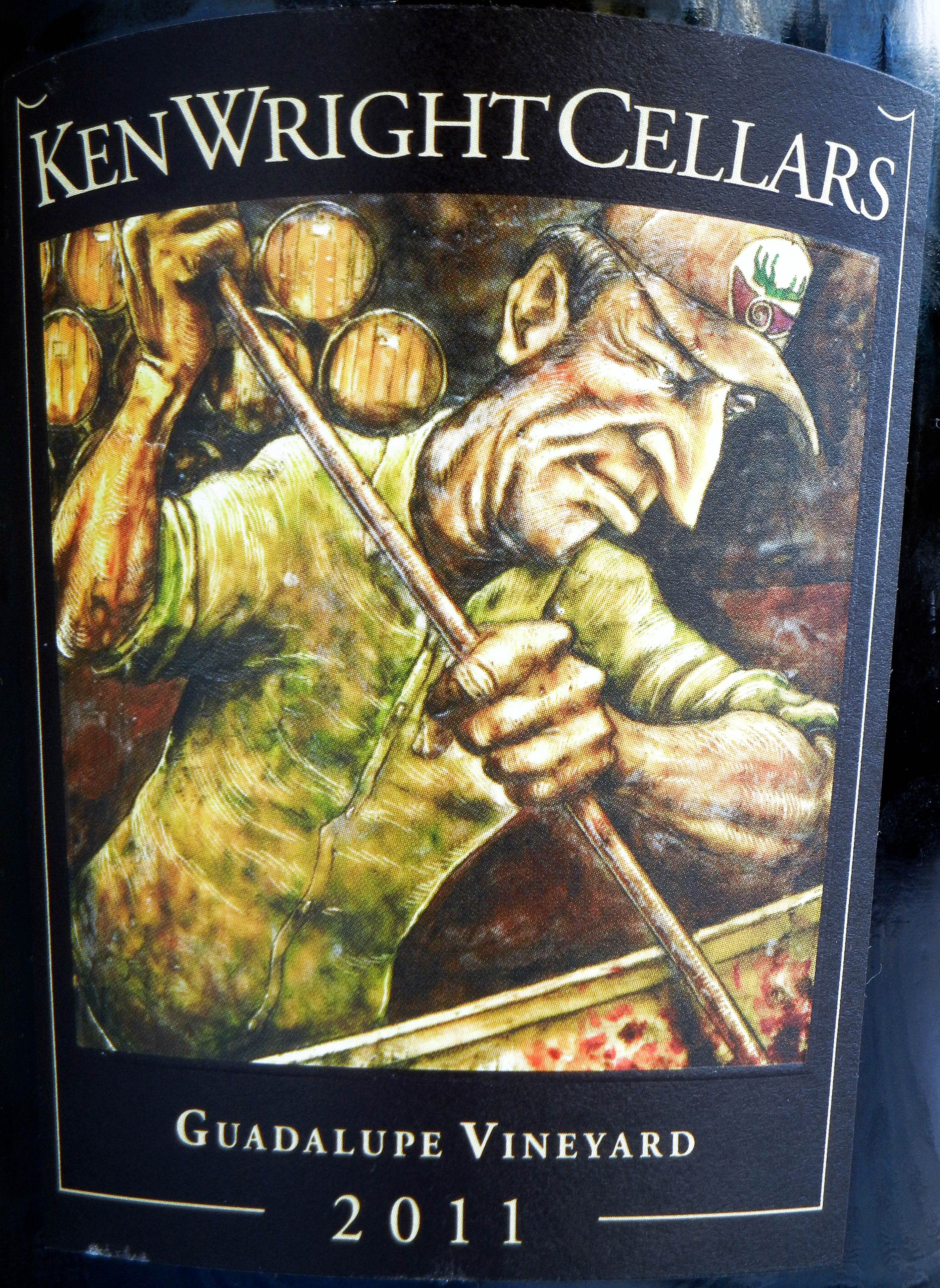 Ken Wright Cellars Guadalupe Vineyard Pinot Noir 2011 Label - BC Pinot Noir Tasting Review 17
