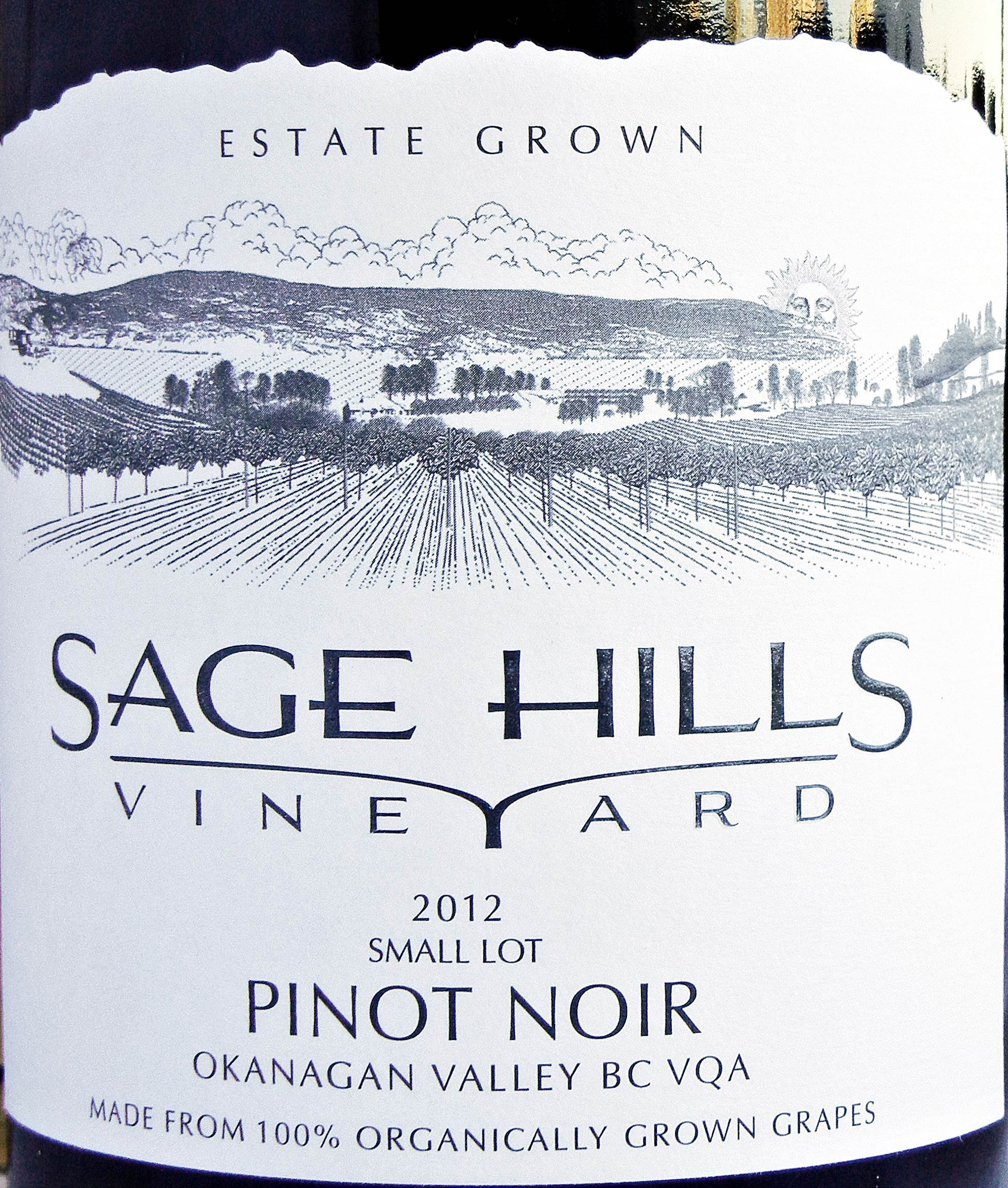 Sage Hills Small Lot Pinot Noir 2012 Label - BC Pinot Noir Tasting Review 18