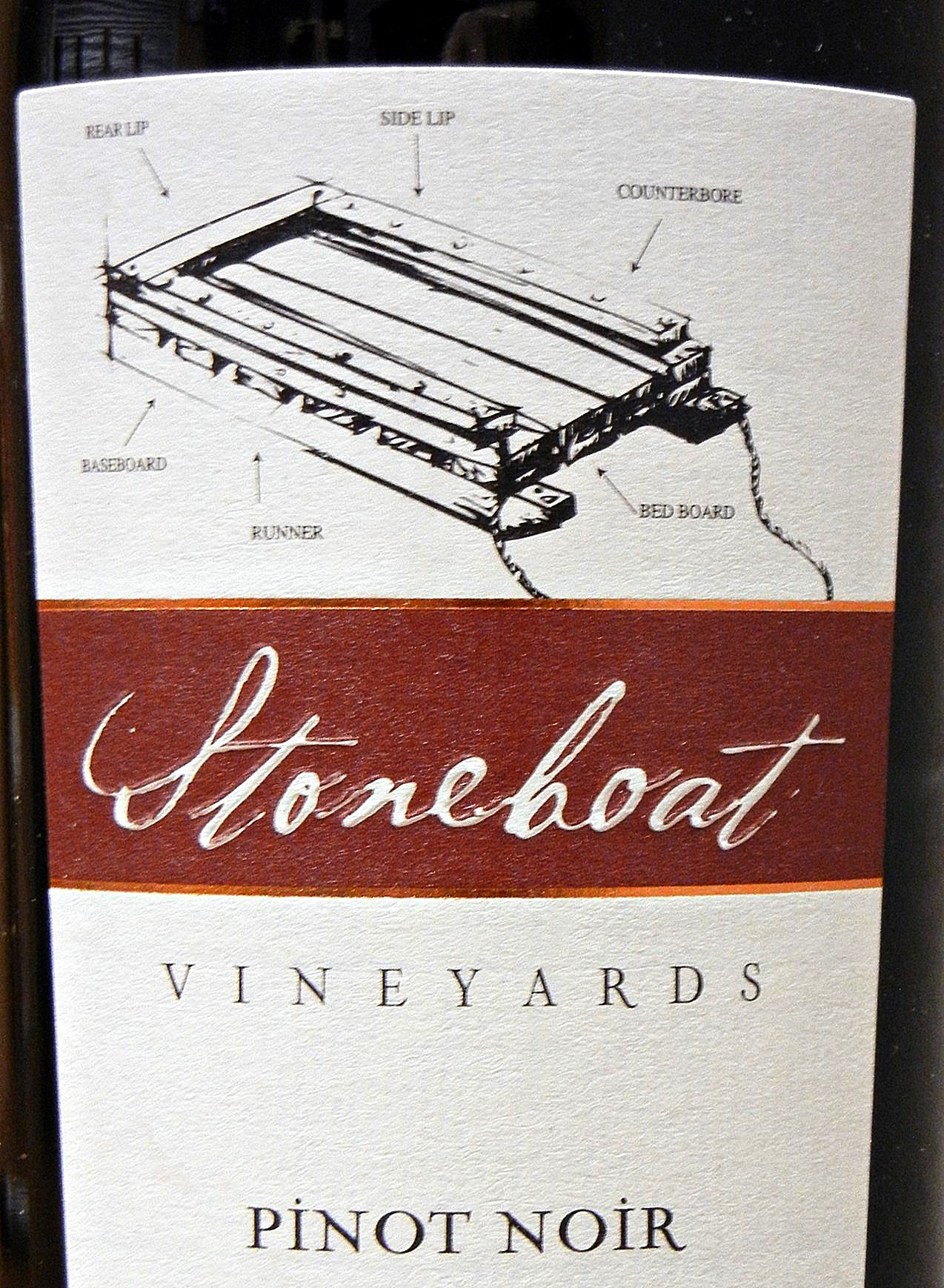 Stoneboat Pinot Noir 2007 Label - BC Pinot Noir Tasting Review 2