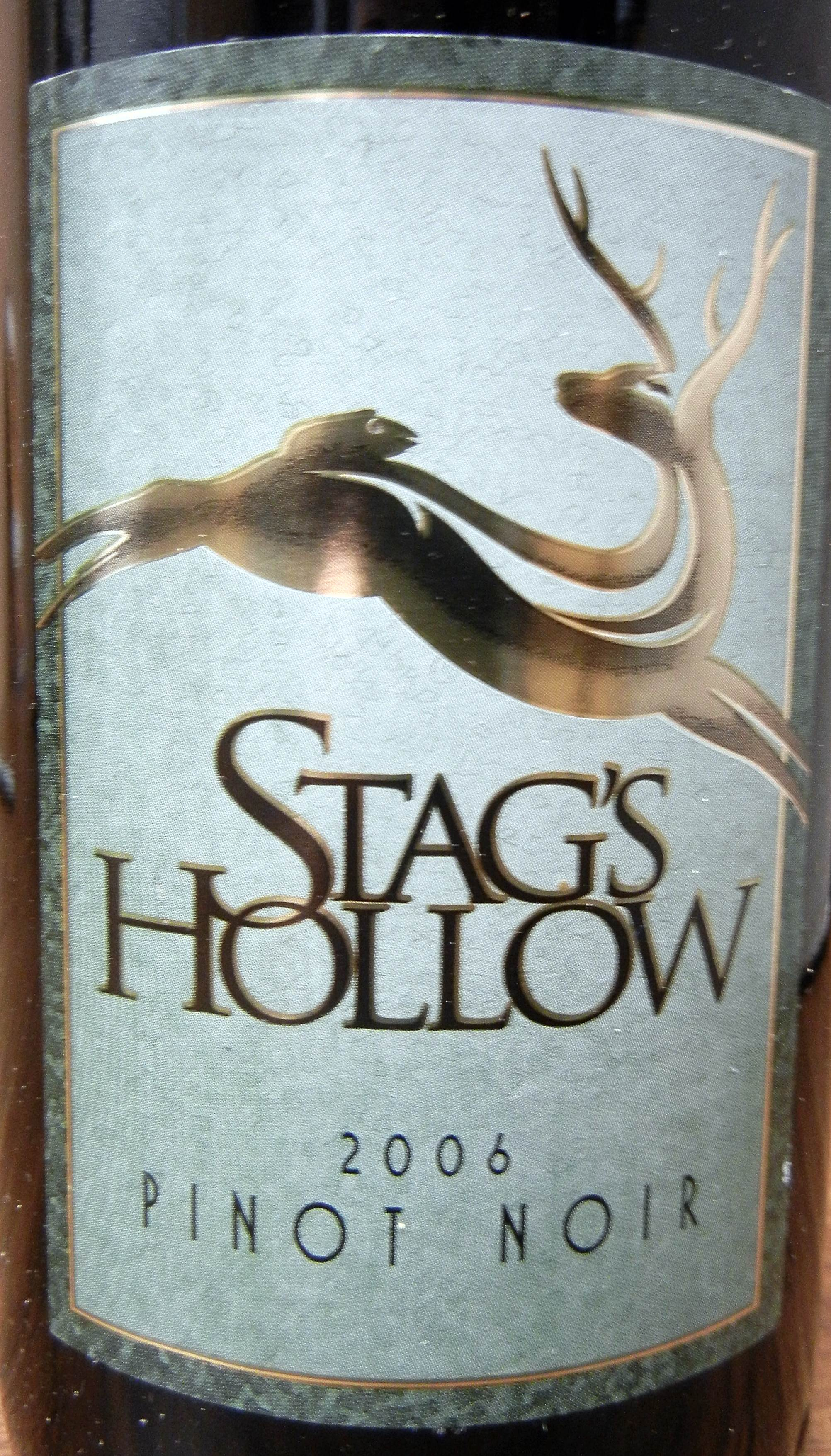 Stag's Hollow Pinot Noir 2006 Label - BC Pinot Noir Tasting Review 5