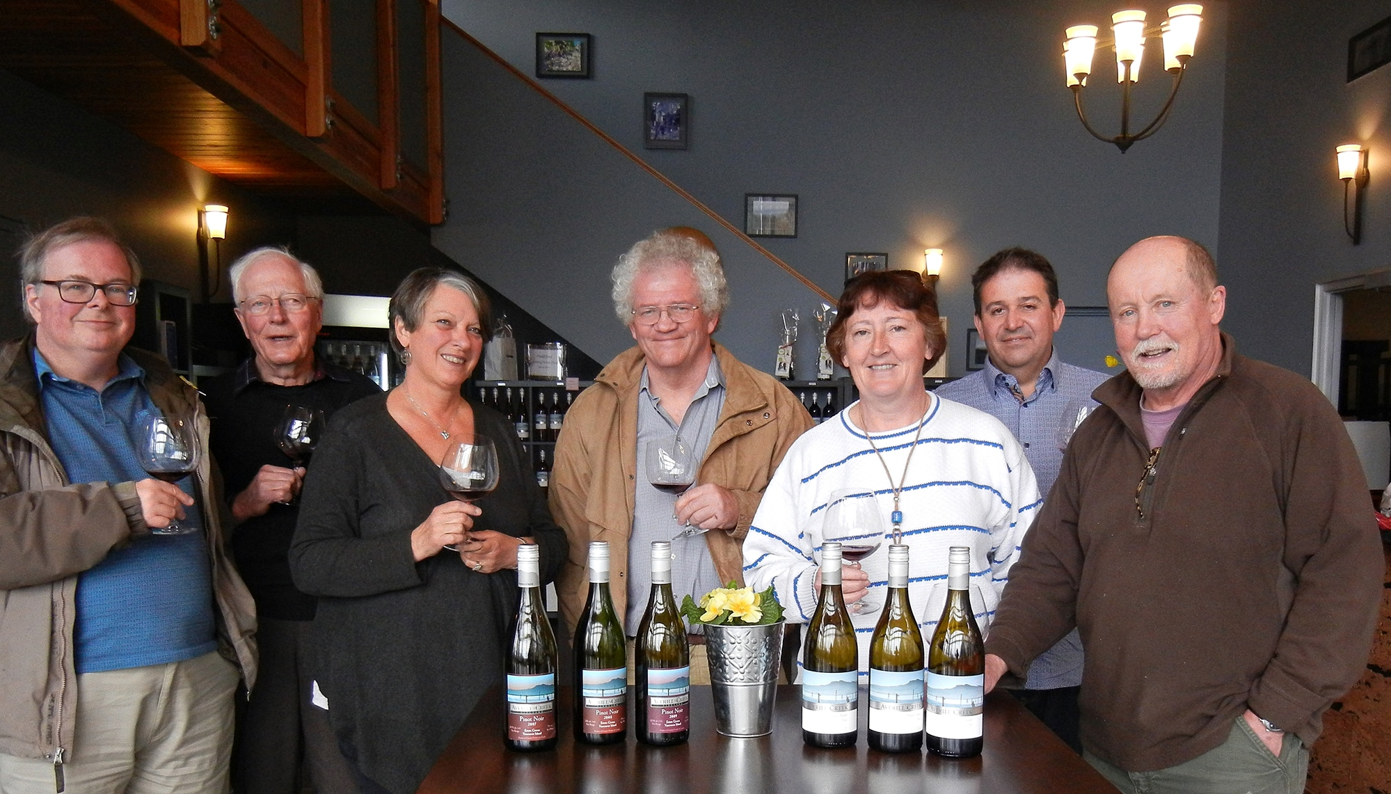 Averill Creek Group Shot Pinot Noir Vertical Tasting