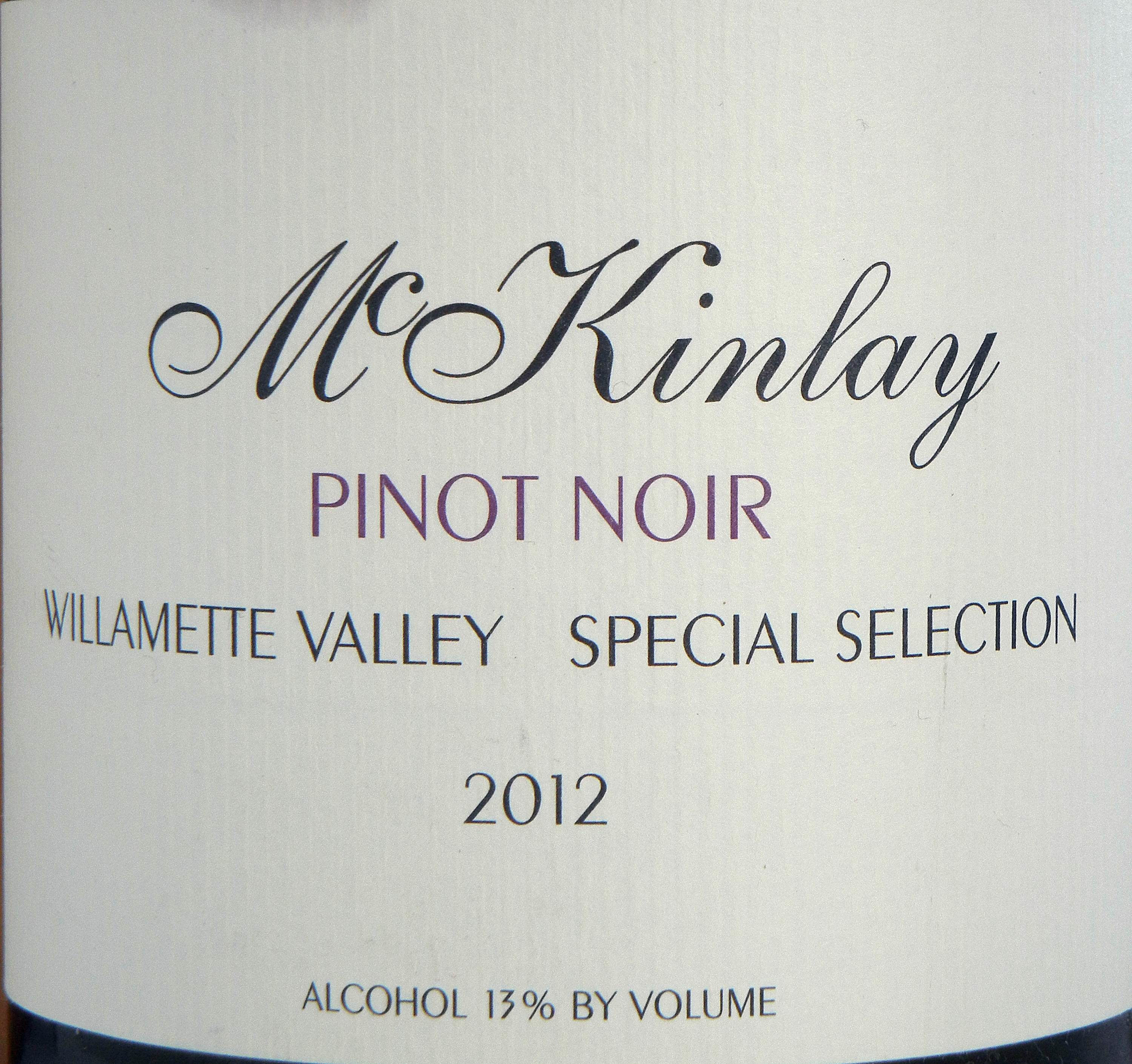 McKinlay Willamette Valley Pinot Noir 2012 Label - BC Pinot Noir Tasting Review 19