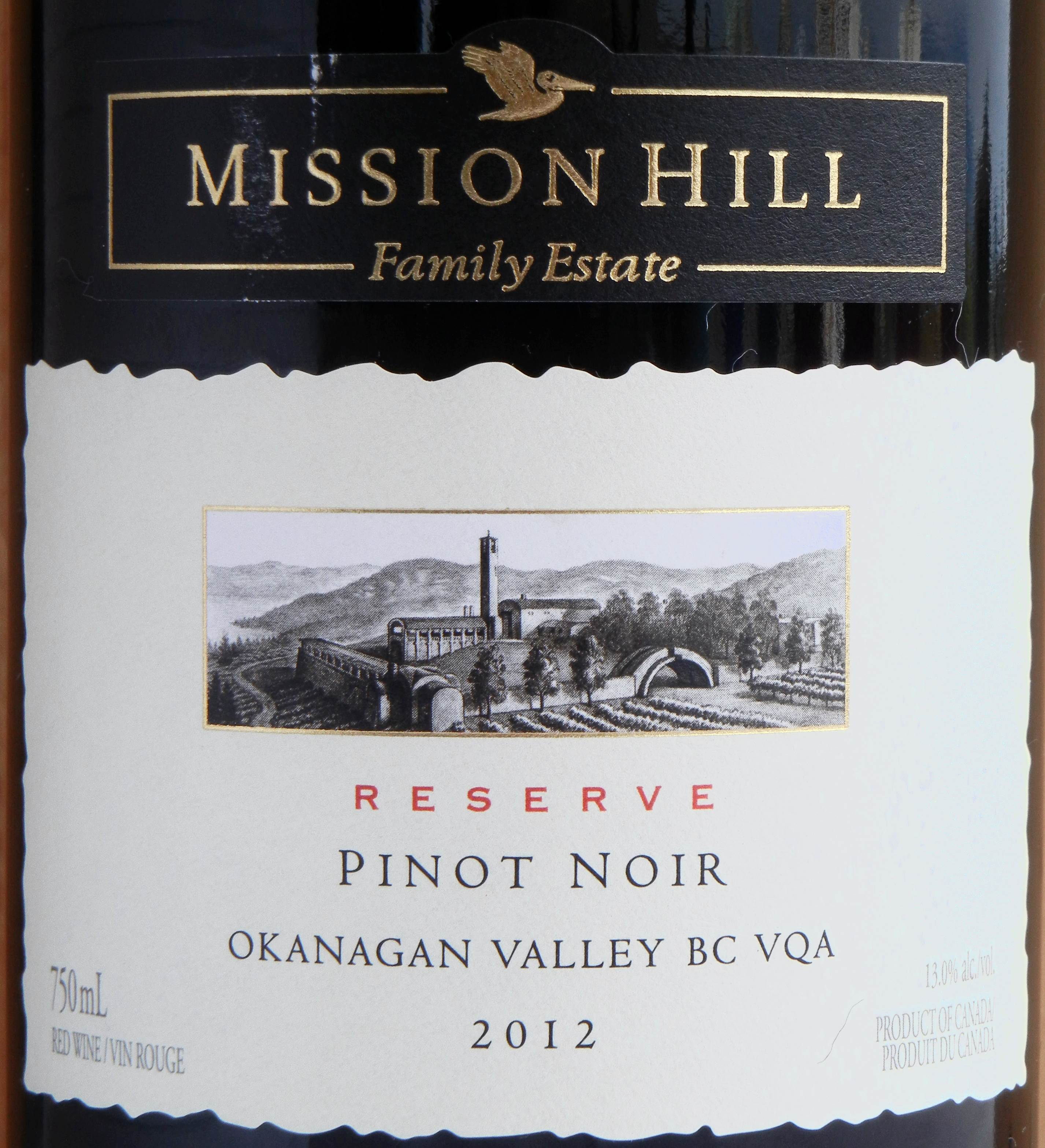 Mission Hill Reserve Pinot Noir 2012 Label - BC Pinot Noir Tasting Review 19