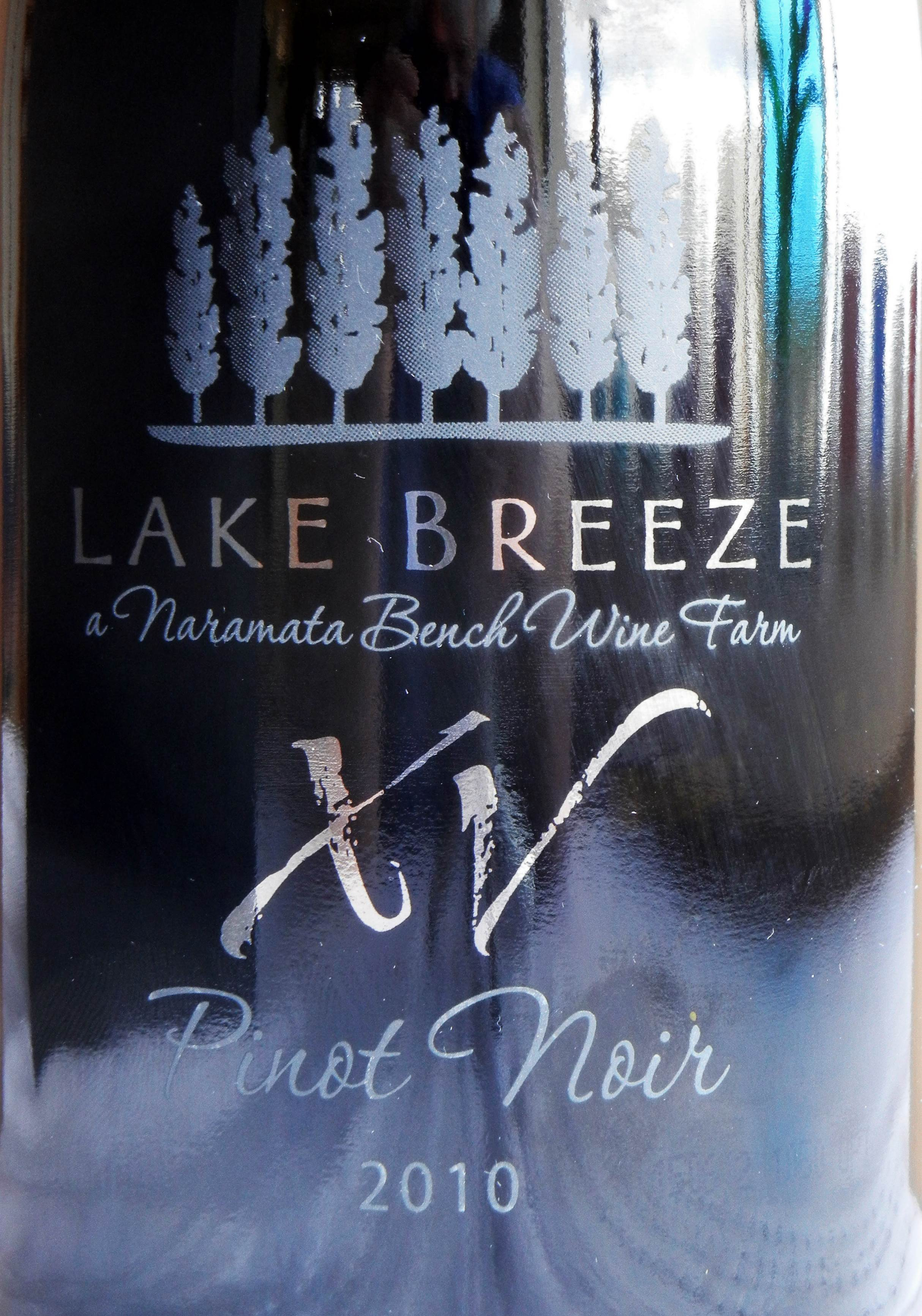 Lake Breeze XV Pinot Noir 2010 Label - BC Pinot Noir Tasting Review 20