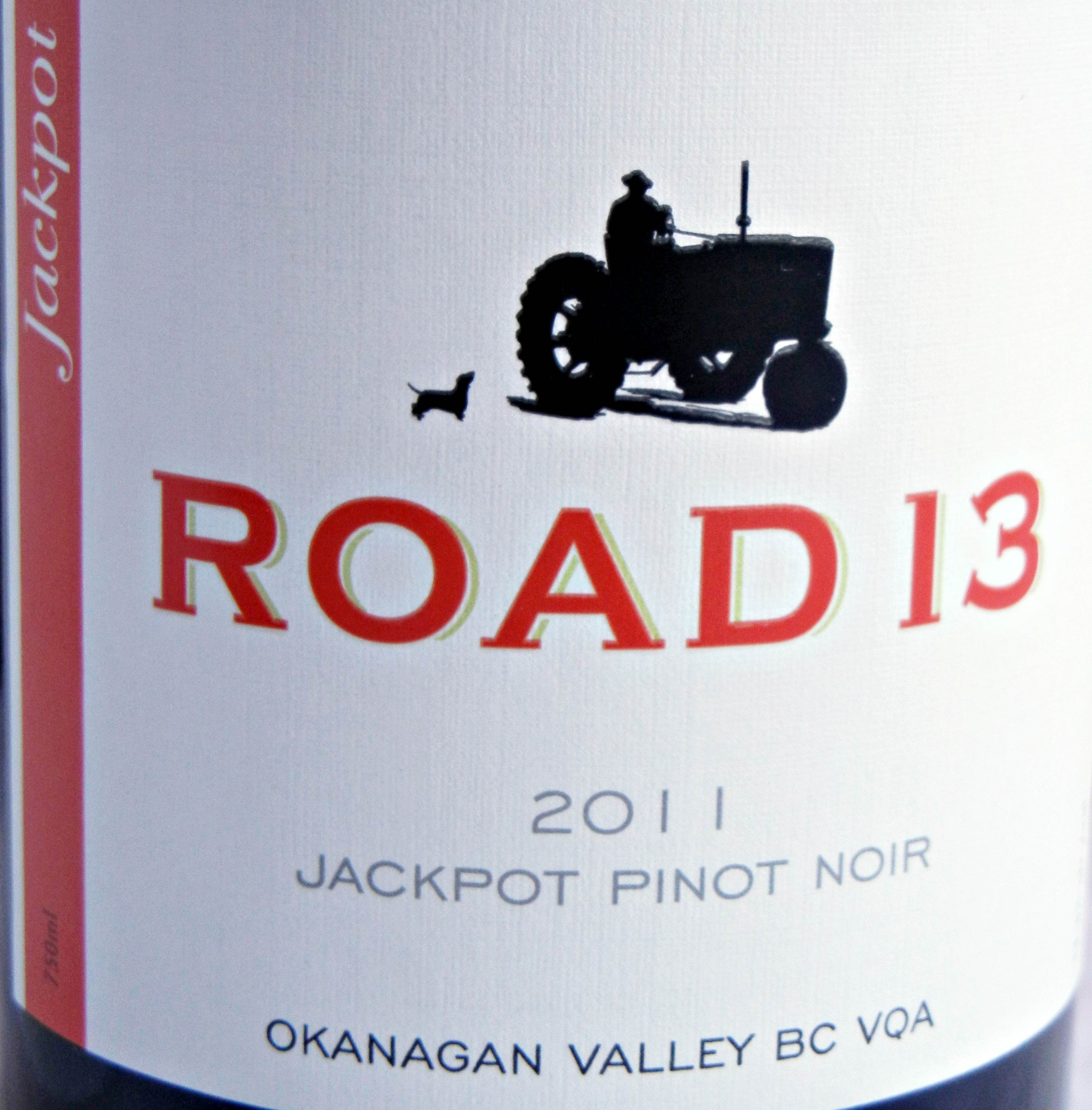 Road 13 Jackpot Pinot Noir 2011 Label - BC Pinot Noir Tasting Review 21