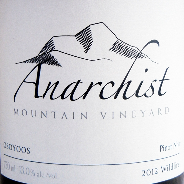 Anarchist Mountain Wildfire Pinot Noir 2012 Label - BC Pinot Noir Tasting Review 22