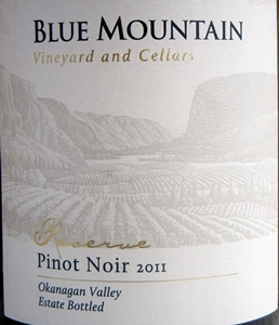 Blue Mountain Reserve Pinot Noir 2011 Label - BC Pinot Noir Tasting Review 22