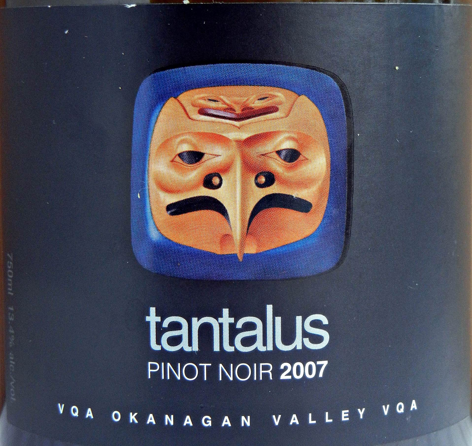 Tantalus Pinot Noir 2007 Label - BC Pinot Noir Tasting Review 23