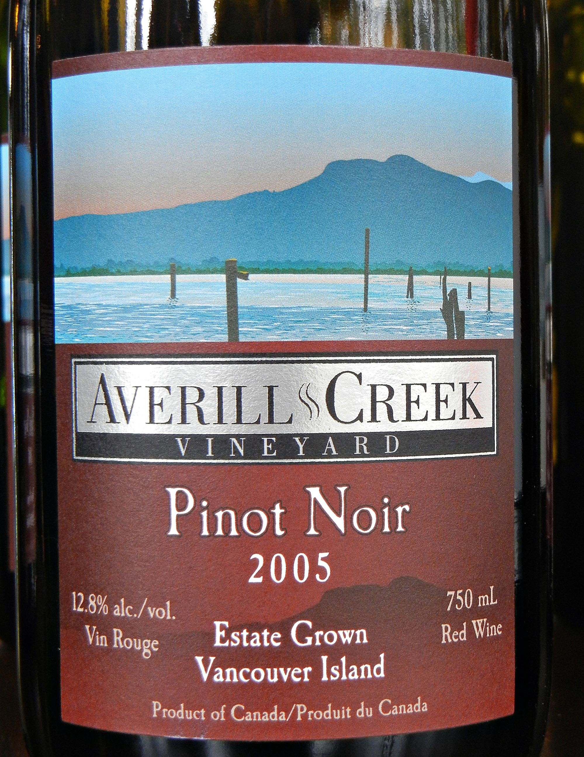 Averill Creek Pinot Noir 2005 Label - BC Pinot Noir Tasting Review 24