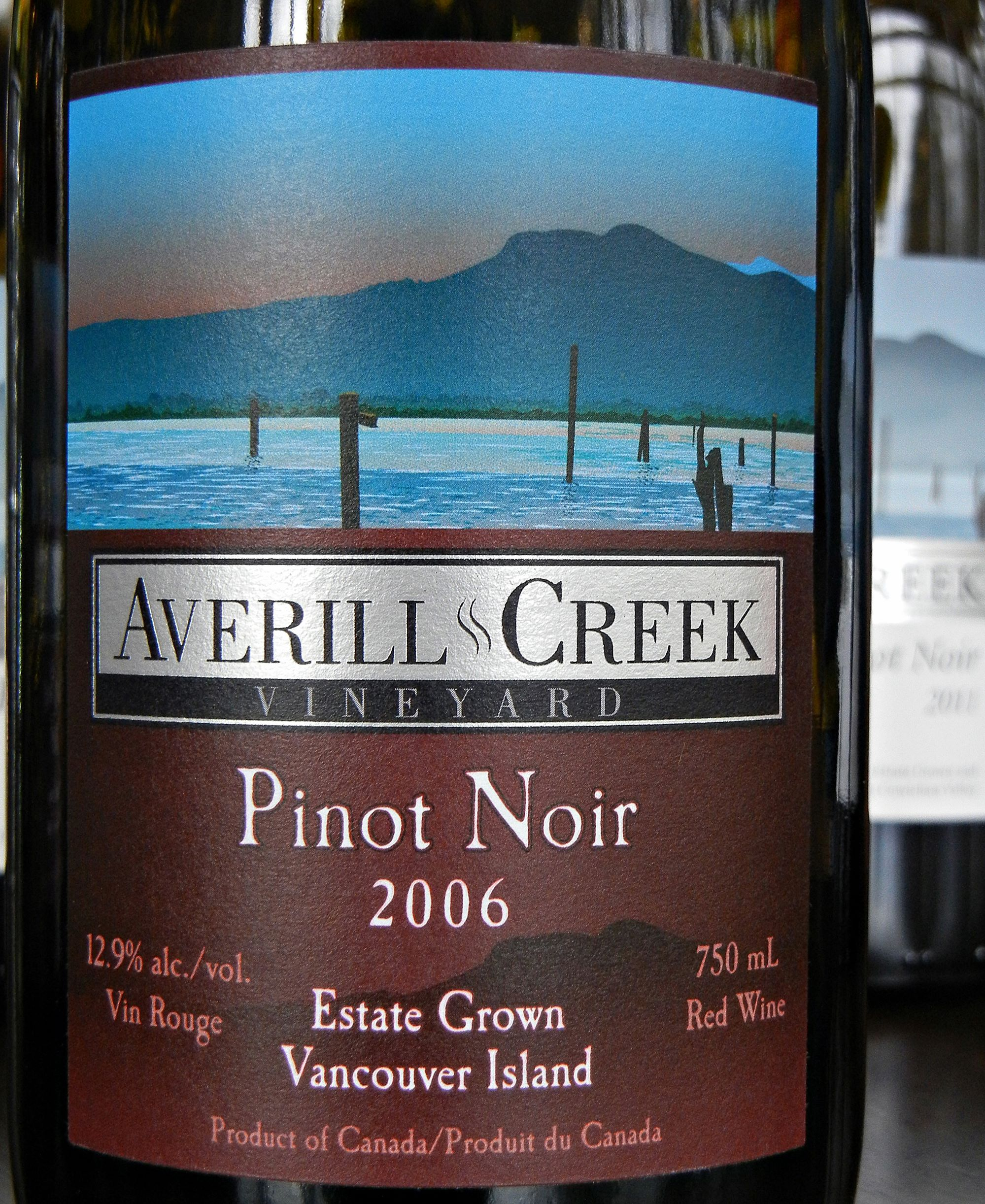 Averill Creek Pinot Noir 2006 Label - BC Pinot Noir Tasting Review 24