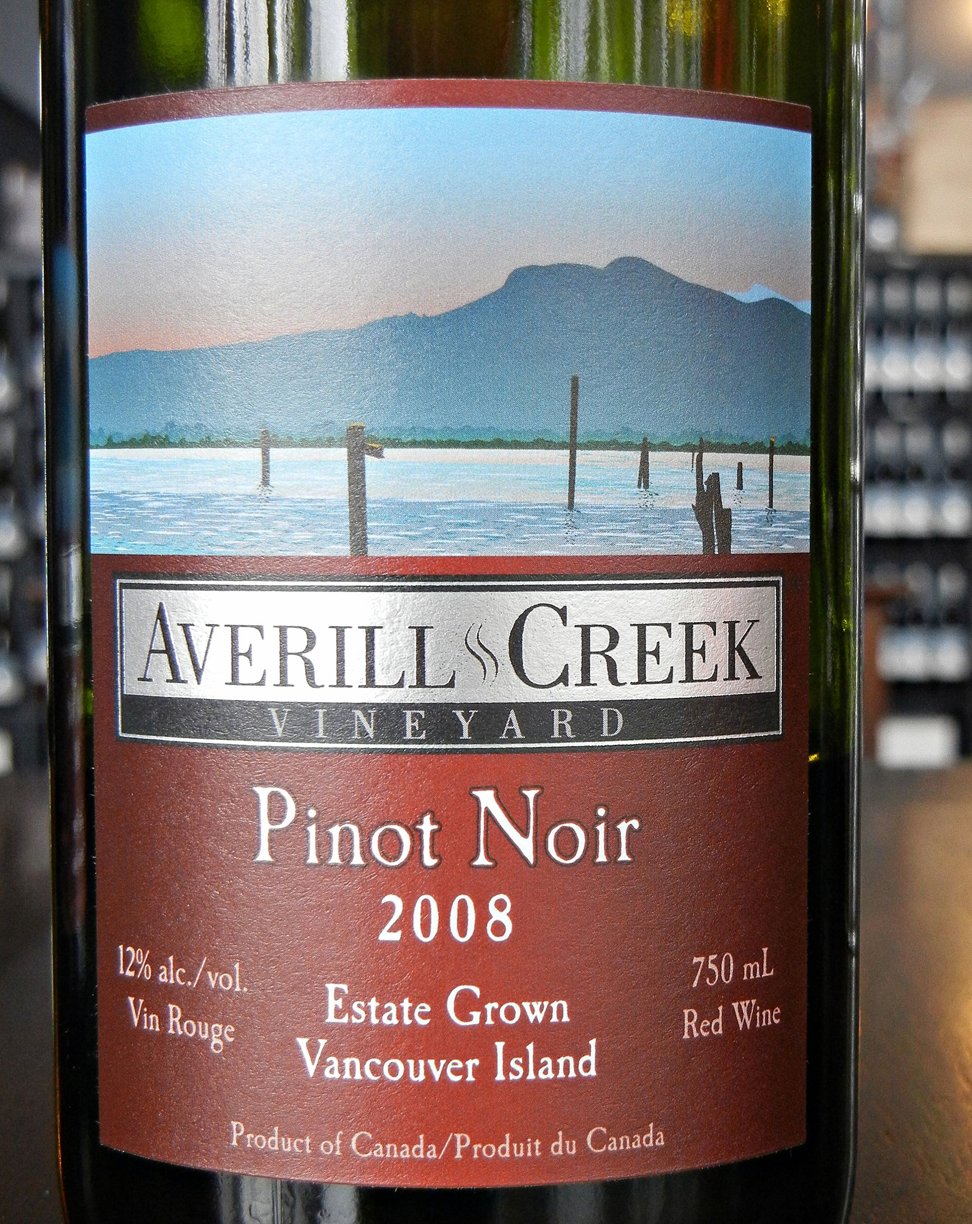 Averill Creek Pinot Noir 2008 Label - BC Pinot Noir Tasting Review 24