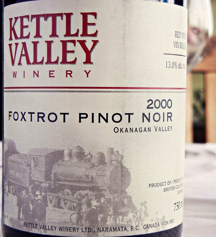 Kettle Valley Foxtrot Pinot Noir 2000 Label - BC Pinot Noir Tasting Review 25