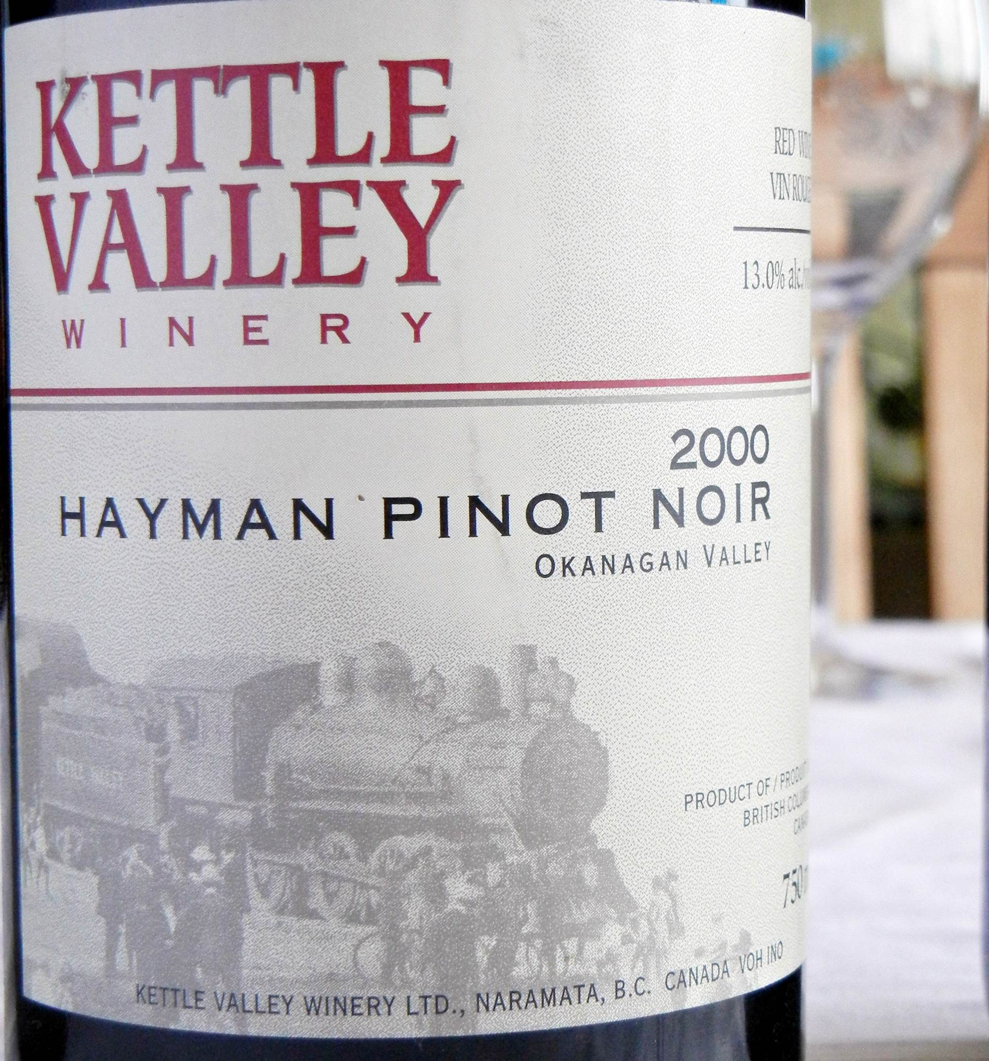 Kettle Valley Hayman Pinot Noir 2000 Label - BC Pinot Noir Tasting Review 25