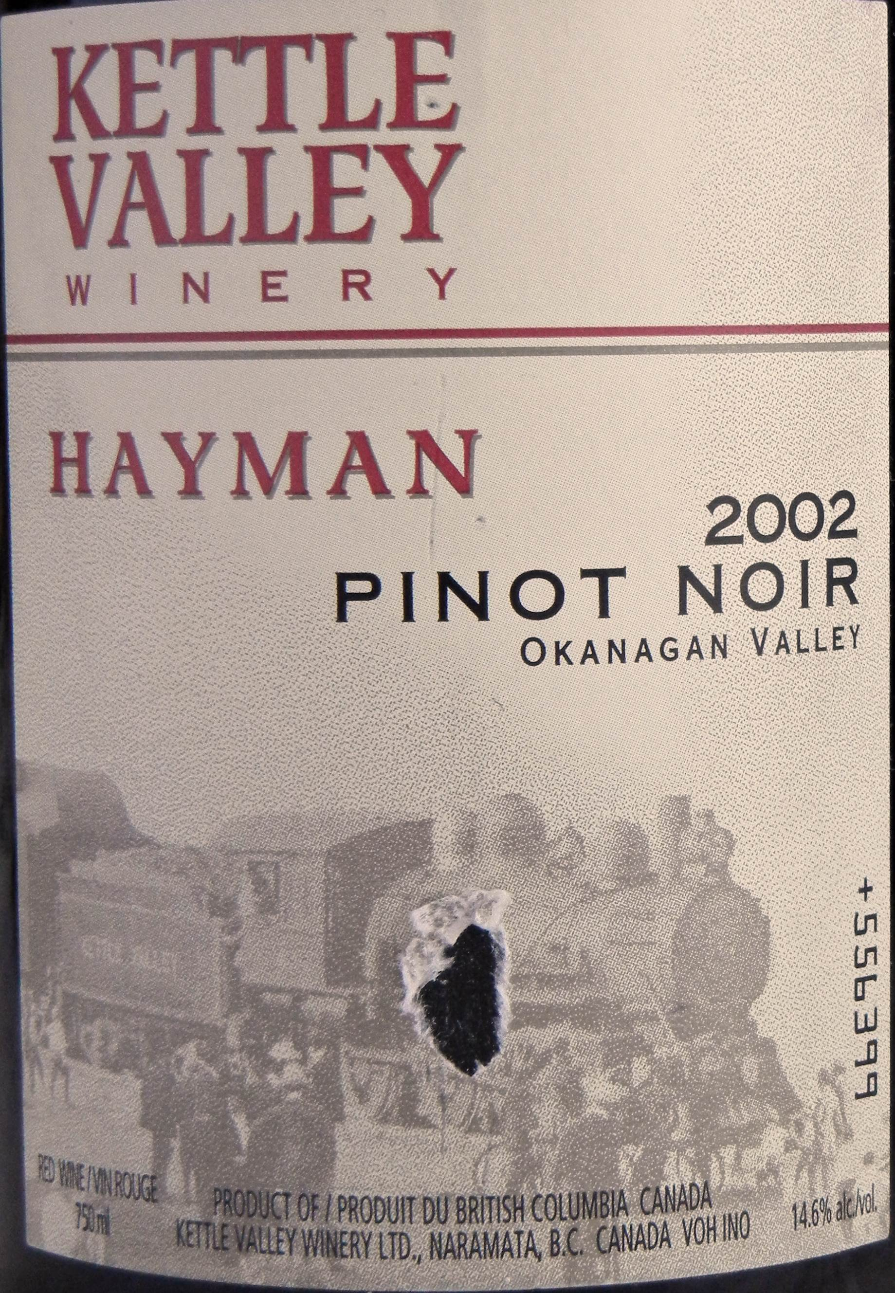 Kettle Valley Hayman Pinot Noir 2002 Label - BC Tasting Review 25