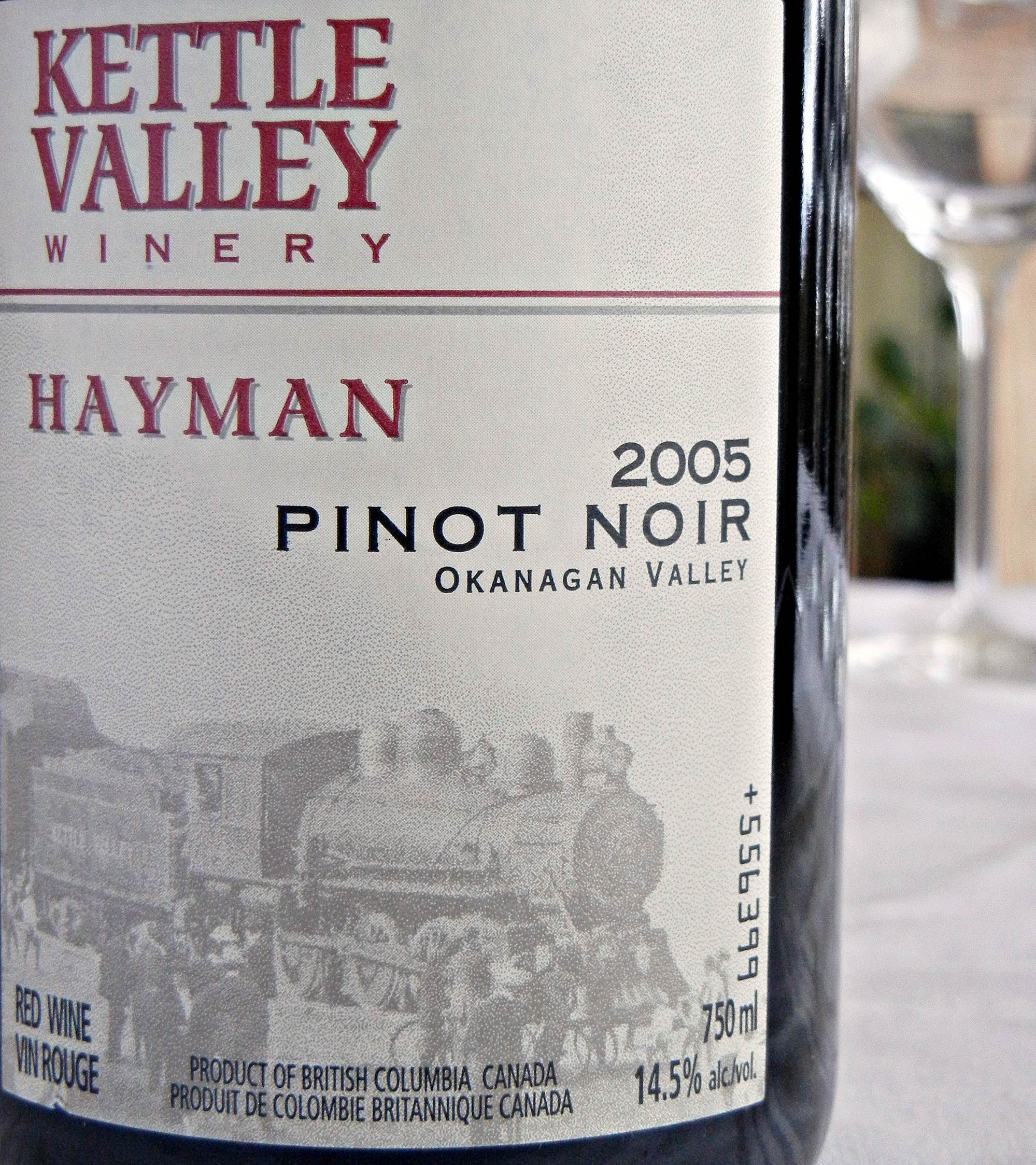 Kettle Valley Hayman Pinot Noir 2005 Label - BC Pinot Noir Tasting Review 25
