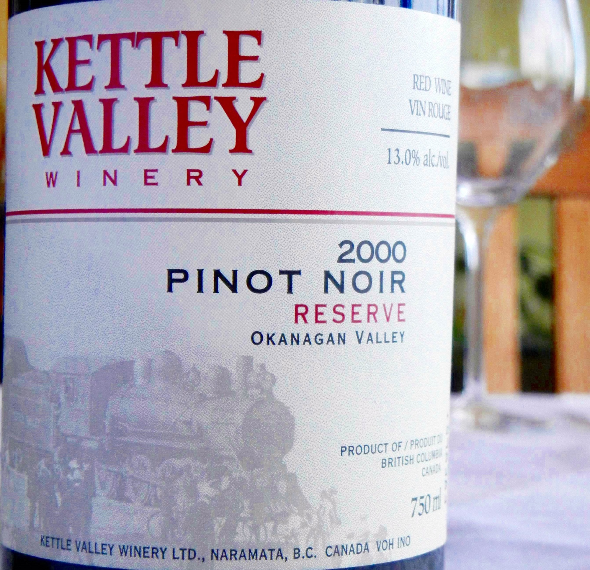 Kettle Valley Reserve Pinot Noir 2000 Label - BC Pinot Noir Tasting Review 25