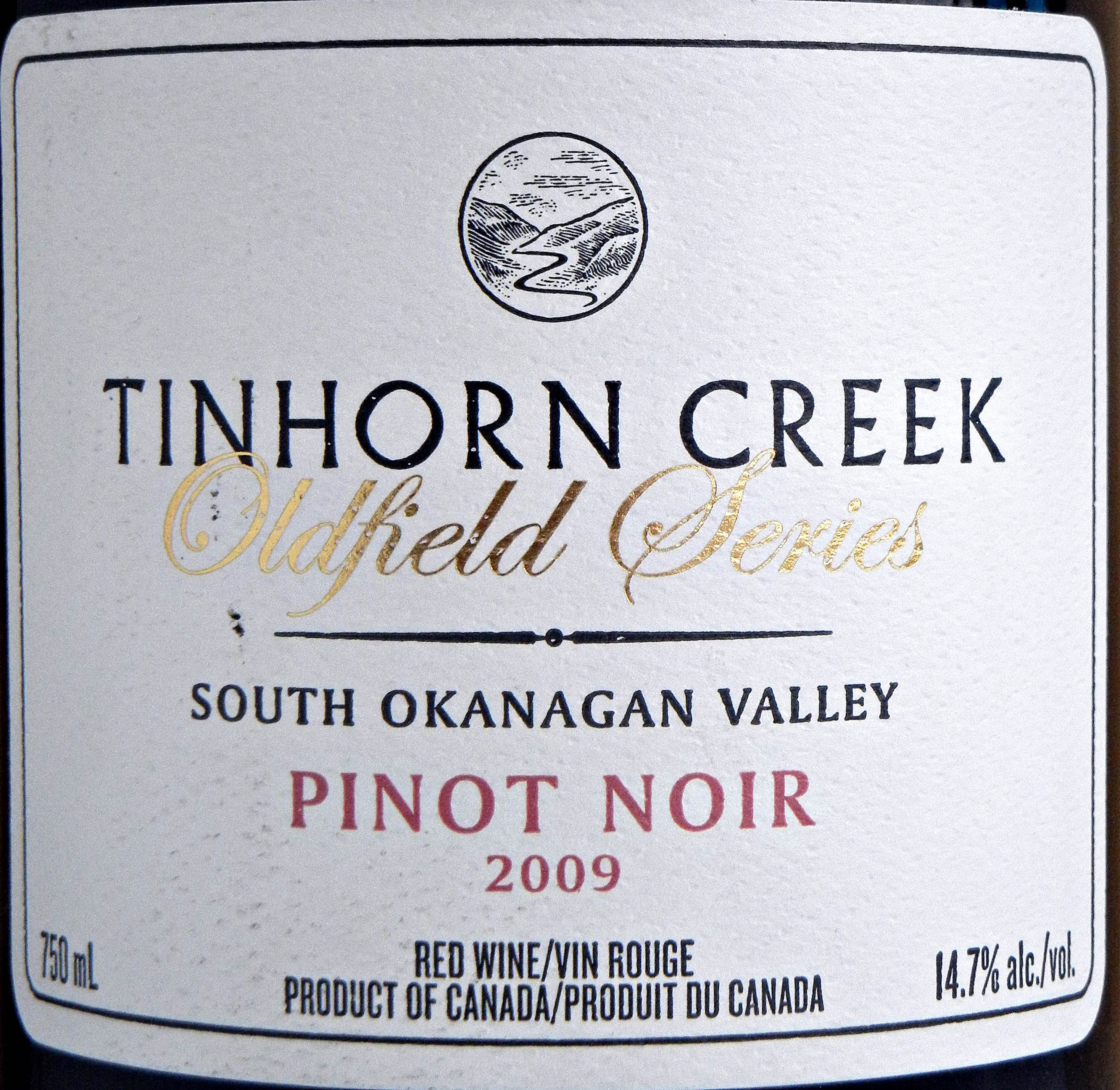 Tinhorn Creek Oldfield Series Pinot Noir 2009 Label - BC Pinot Noir Tasting Review 26