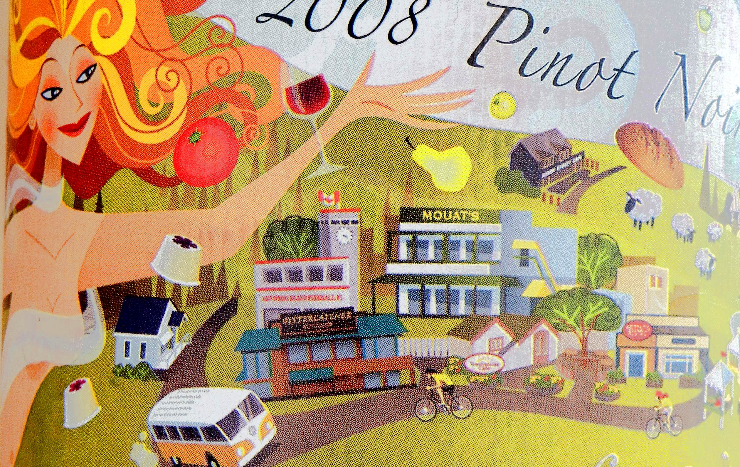 Salt Spring Pinot Noir 2008 Label Detail